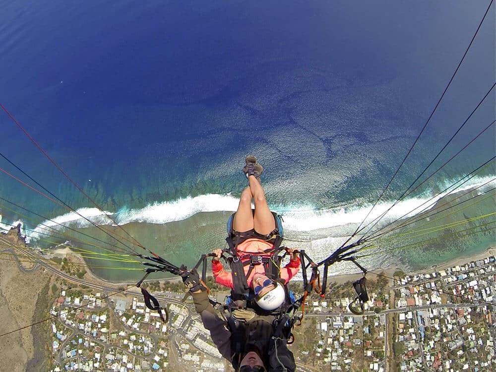 Découvrir l'île de la Réunion vue du ciel, avec un baptême de parapente